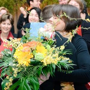Blumen für das Geburtstagskind