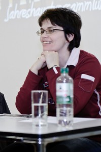 Noch im Amt: Kassiererin Manuela Sauerbier