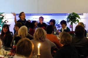 Keine Feier ohne Singen - auch wenn das Angeben der Töne erkältungsbedingt schwierig war