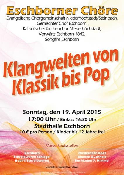 Klangwelten von Klassik bis Pop - Gemeinschaftskonzert der Eschborner Chöre 2015