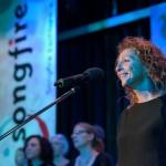 "Solistin Maria Santangelo bei der Wiederholung des Siegertitels in Eschborn ""Hijo de la luna"""